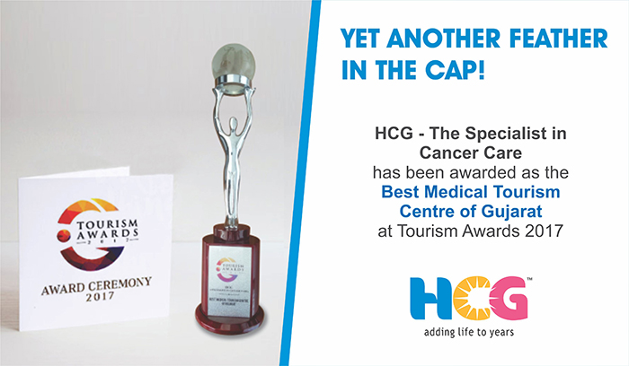 HCG awarded as the Best Medical Tourism Centre of Gujarat