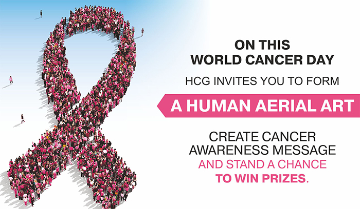 Human Aerial Art Competition to Observe World Cancer Day